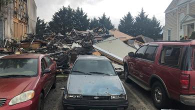 The fire set by Brown collapsed two homes and damaged a third, fire officials told the newspaper.