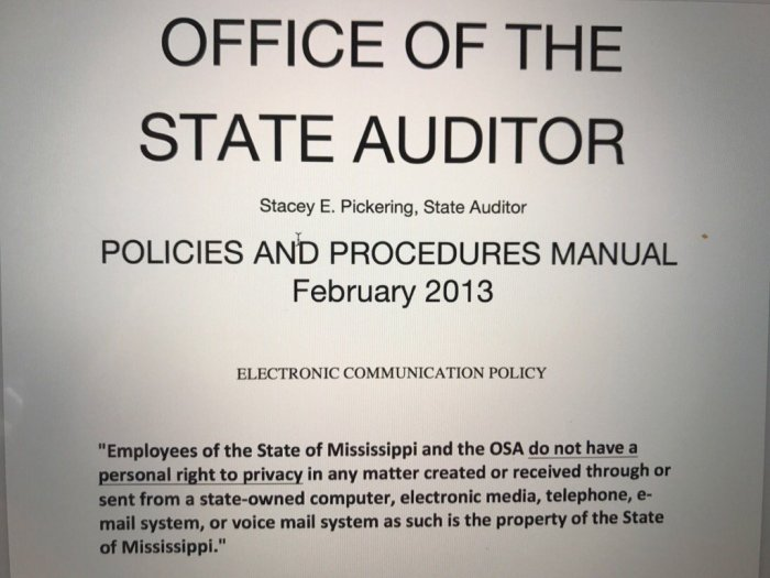 state of mississippi privacy