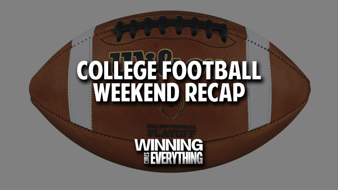 CFB Weekend recap