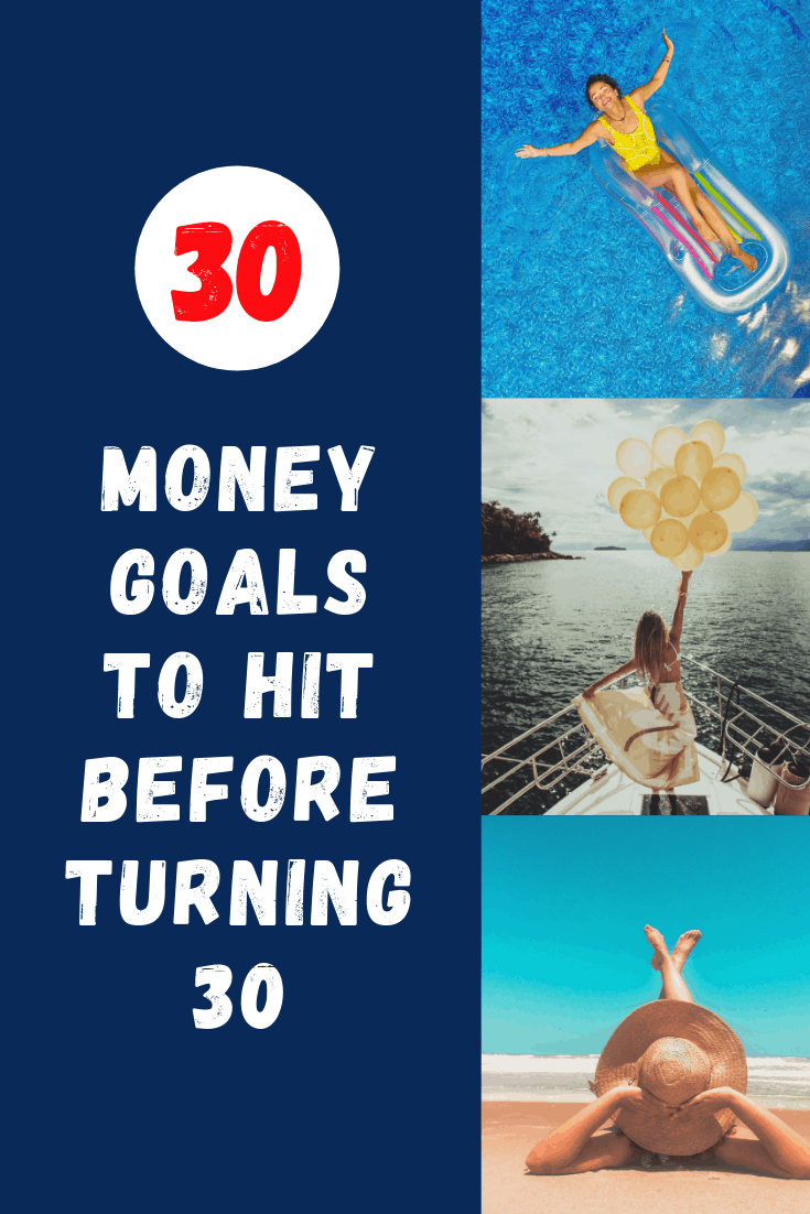 Here are 30 money goals you should reach before the age of 30. Knocking these out will give you financial peace and put you on the road to wealth.
