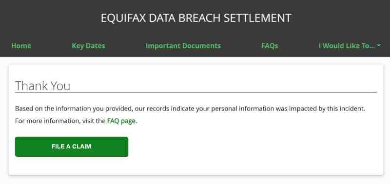 equifax data breach settlement