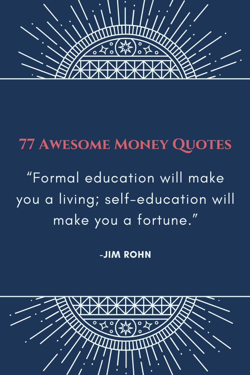 awesome quotes about money to help you with your finances