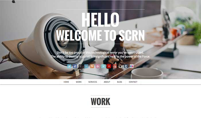 SCRN - One-Page WordPress Theme