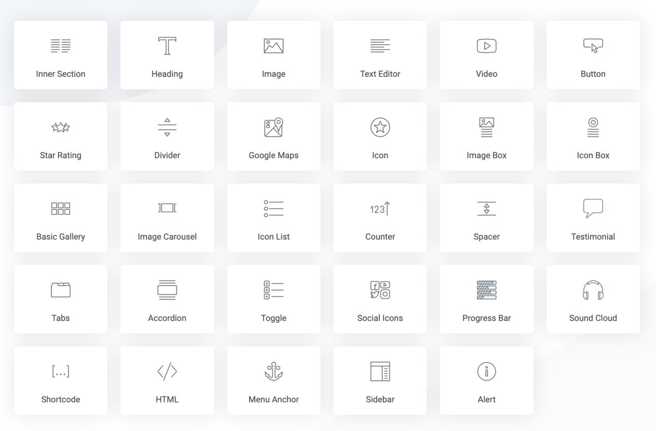 Elementor review: widgets