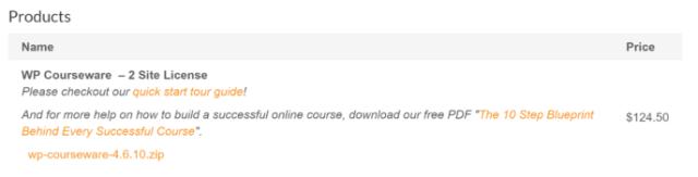 WP Courseware review: download plugin