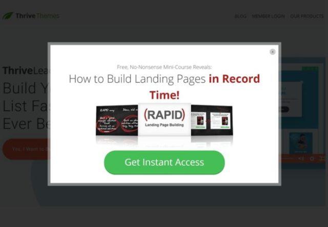 Thrive Leads homepage