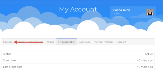 LifterLMS Account Dashboard
