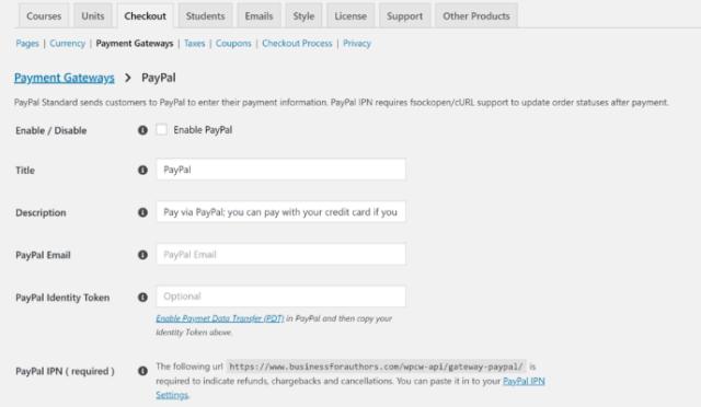 LearnDash vs WP Courseware: PayPal Setup WP Courseware