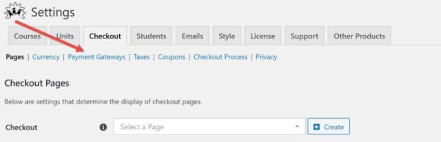 WP Courseware Checkout Settings