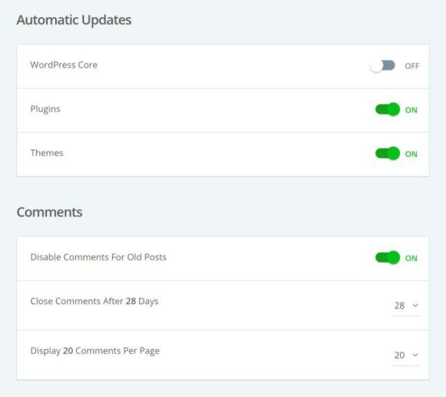 Bluehoast Autoupdate Settings