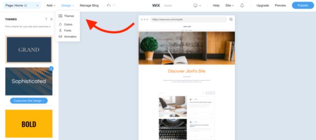Wix design tweak
