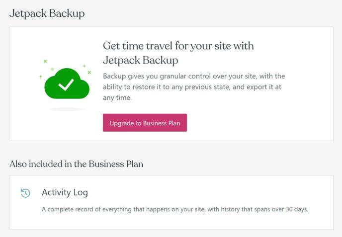 WordPress.com Backups with Jetpack