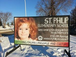 Winnipeg School Portable Signs