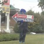 Winnipeg spinner arrow sign