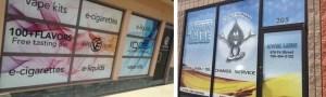 Winnipeg outdoor window signs