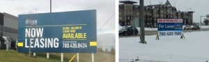 Winnipeg real estate signs