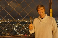 Bubbly at the top of the Eiffel tower