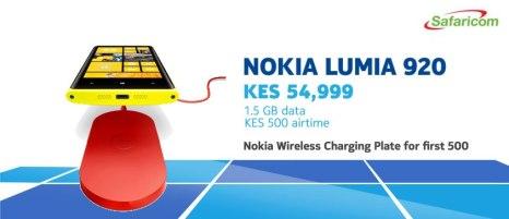 Safaricom's offer for the Nokia Lumia 920.