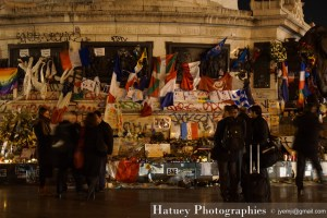 Paris, Memorial Place de La Republique par ©Hatuey Photographies