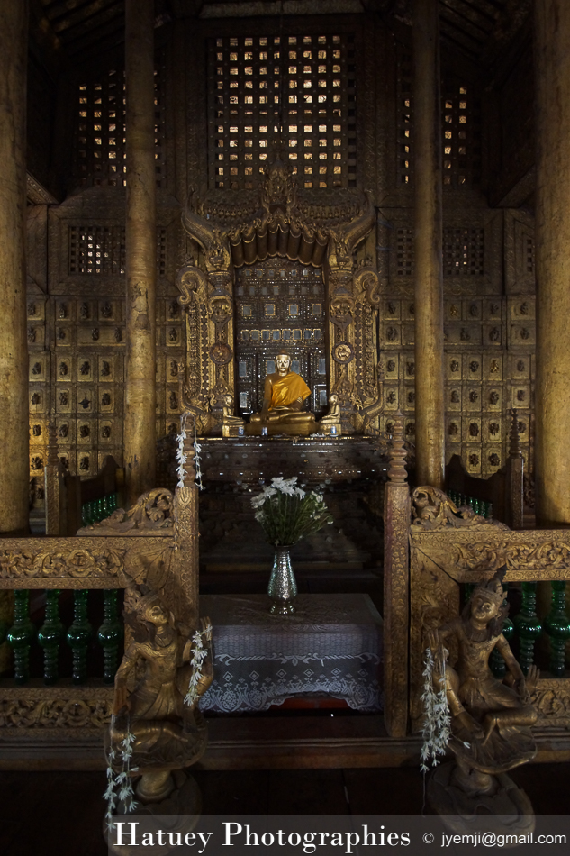Myanmar Birmanie, Photographies 2015, Asie, Sculpture, Mandalay, Monastère Shwenandaw by © Hatuey Photographies