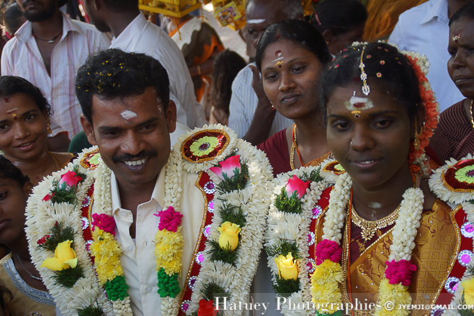 Mariage à Madurai, Meenakshi Amman temple (TN). Tourism in South India. Photographs of South India, Photographies en Inde du Sud par © Hatuey Photographies