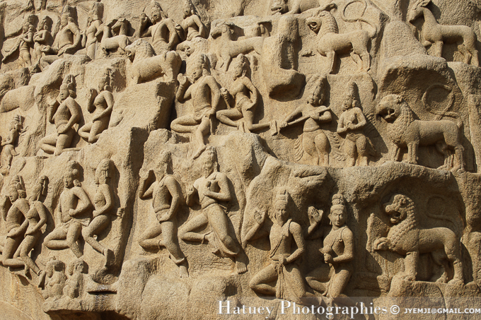 Mahabalipuram ,Descente du Gange, Tamil Nadu. Southern India,Tourism in South India. Pictures of Southern India,Photographs of South India. Photographies en Inde du Sud par © Hatuey Photographies
