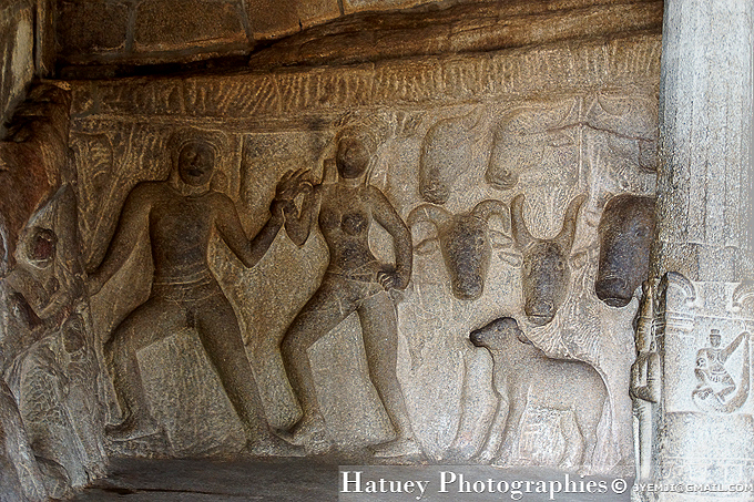 Mahabalipuram ,Krishna Mandapam, Tamil Nadu. Southern India,Tourism in South India. Pictures of Southern India,Photographs of South India. Photographies en Inde du Sud par © Hatuey Photographies