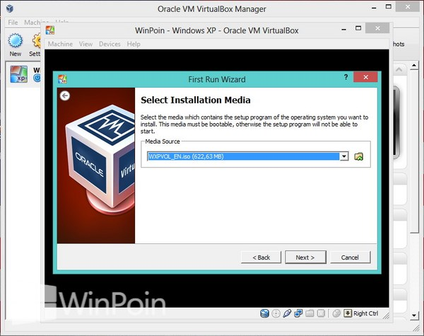 Cara Instal Windows XP di VirtualBox Beserta Gambar