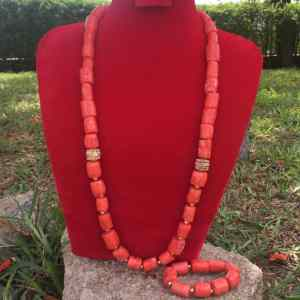 Pure Coral With Findings