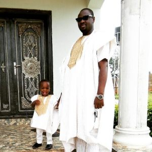 Men's Short Sleeves Agbada Native - White