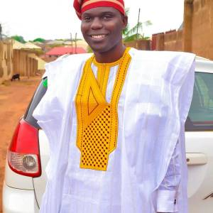 Men's Long Sleeves Agbada Native - White