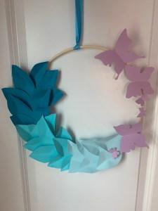 How to make diy ombré wreath