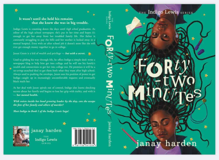 Author Janay book cover Forty-two Minutes; author spotlight on Win's Books