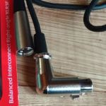 XLRケーブル  L型カプラに変更