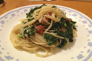 Quick and easy kale carbonara