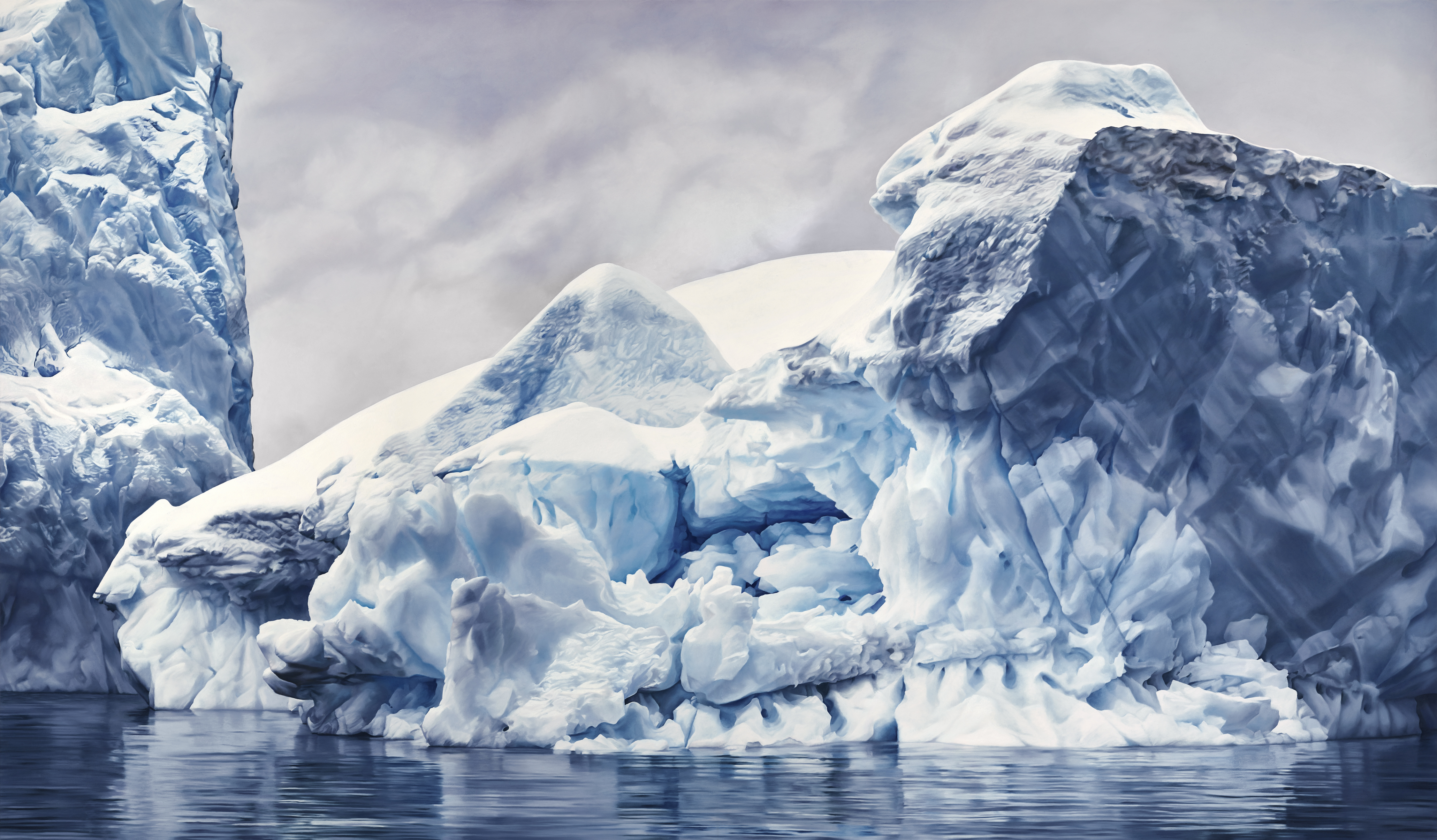 Antarctica New Works From Zaria Forman At Seattles