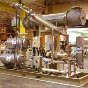 process vacuum system, large pre-condenser, steam-jet, jet-condenser, liquid ring vacuum pump