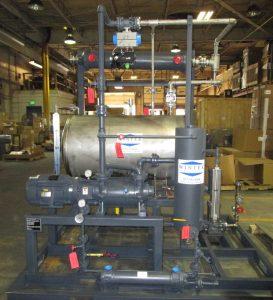 vacuum degassing condenser/receiver liquid ring vacuum system