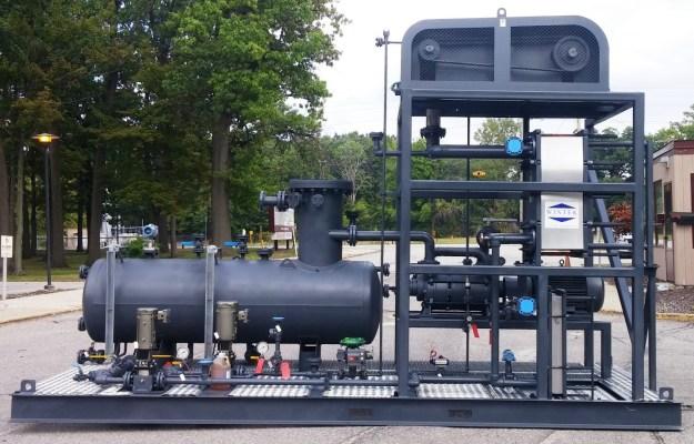 vacuum distillation boosted, condenser, liquid ring vacuum system