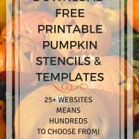 FREE Printable Pumpkin Stencils + Halloween Templates