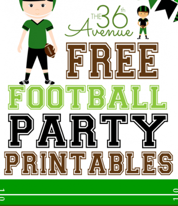 Free Football Themed Printables For Children {and Adults} #superbowl winterandsparrow.com 36th avenue free football party printables