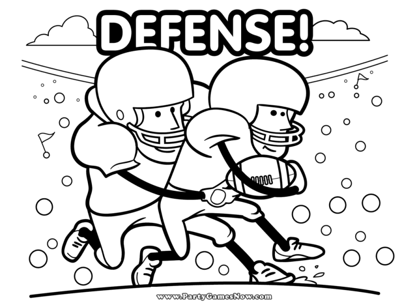 Free Football-Themed Coloring Pages winterandsparrow.com