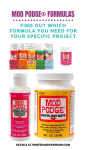 A Guide to All Mod Podge Formulas So You Can Get Your Project Done