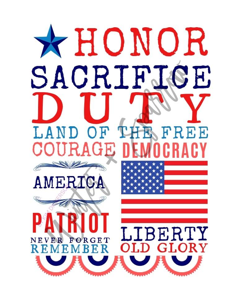 Honor Our Veterans: Don't Ignore The Poppies + Memorial Day Subway Art Print {free} | winterandsparrow.com #memorialday #veteransday #military #honorourveterans