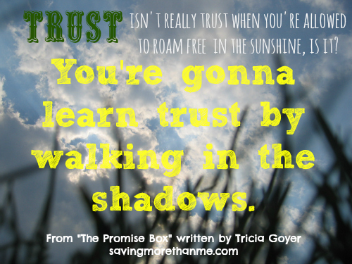 Learning trust Quote from The Promise Box by Tricia Goyer