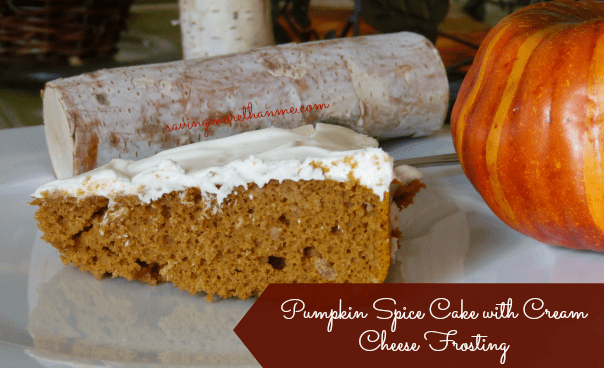 pumpkin spice cake with cream cheese frosting recipe