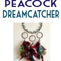 DIY Peacock Dreamcatcher