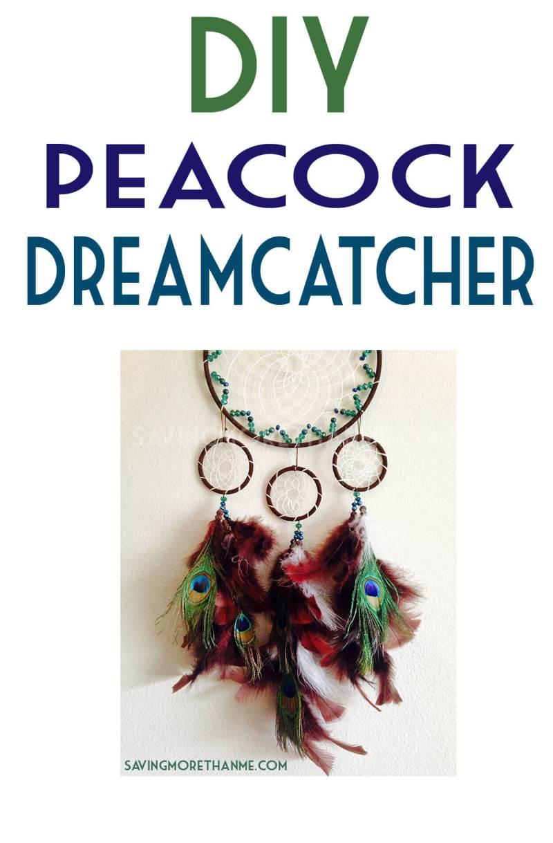 DIY Peacock Dreamcatcher winterandsparrow.com