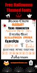 13 Free Halloween Fonts #halloween