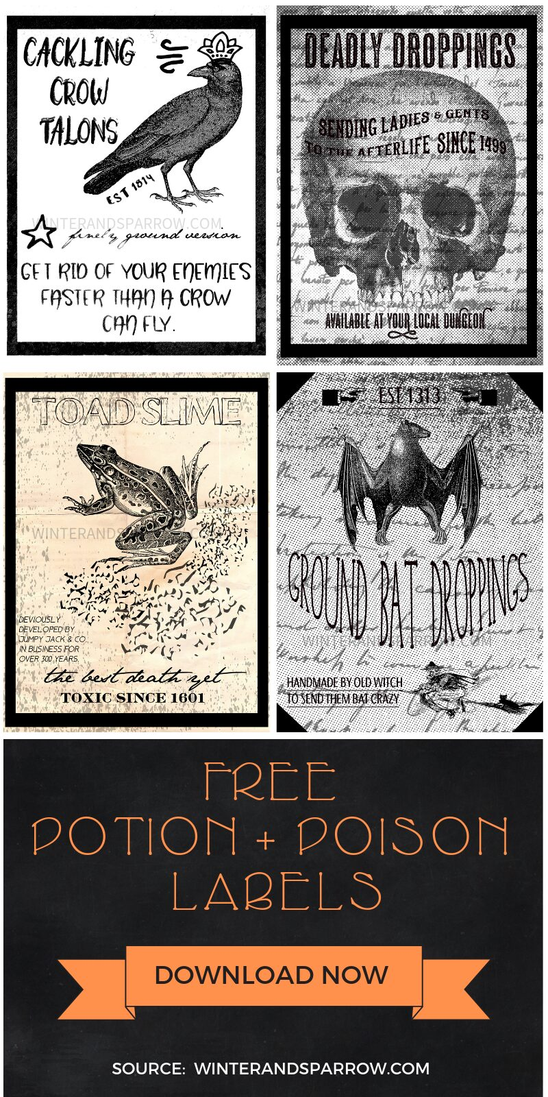 image relating to Printable Potion Labels known as Printable Potion Labels: 4 Halloween Potion + Poison